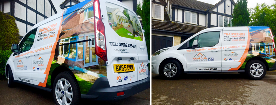 van wraps in bedfordshire